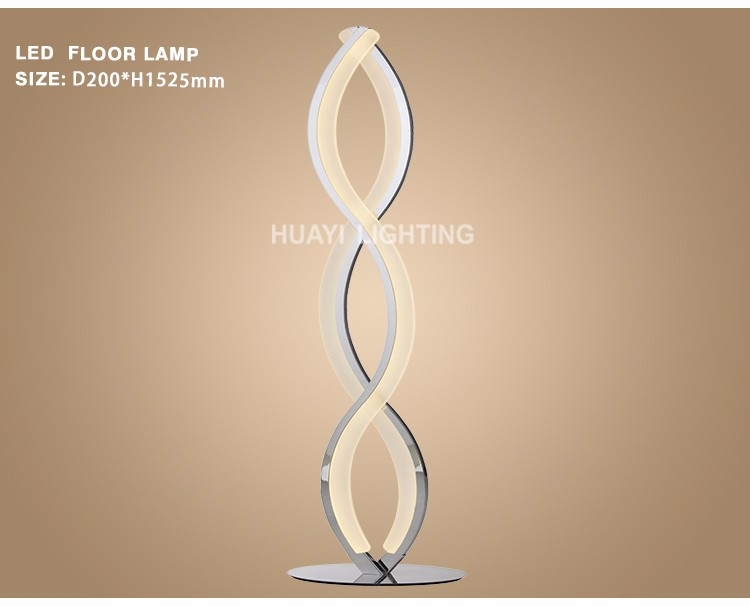 2018 Zhongshan Wholesale Modern Designer Fashion Hotel Office Aluminum LED Light Floor Lamp for indoor lighting
