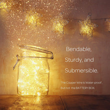 Rainbow color birthday party decorative low energy consume led solar outdoor Christmas rope twinkle fairy light lanterns