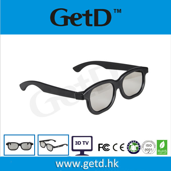 Cinema and TV used plastic 3d passive wholesale 3d glasses