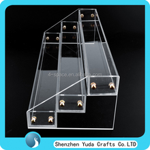 3 Tier 30 Bottles Clear Acrylic Display Stand Rack Organizer Nail Polish Salon Wall Makeup Free