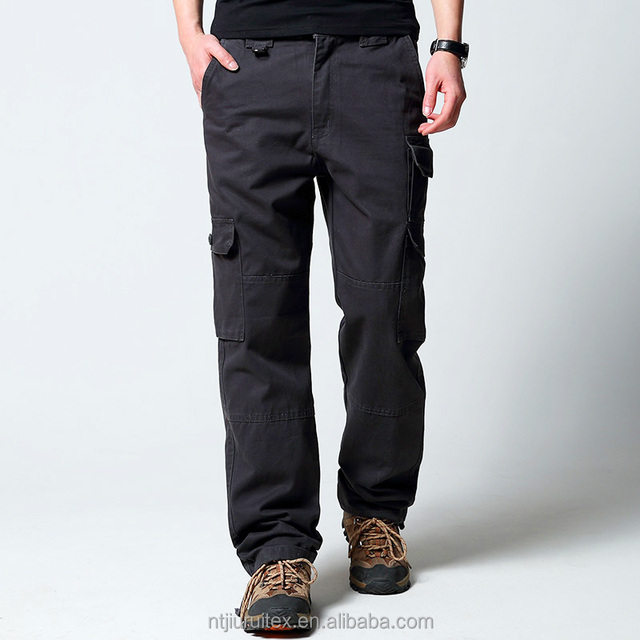 Baggy long trousers, men's cargo pants with many pockets