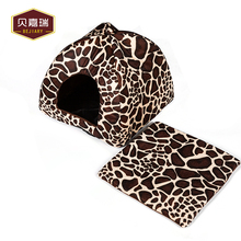 Factory Wholesale Cute Plush Pet Bed, Dog Cat House