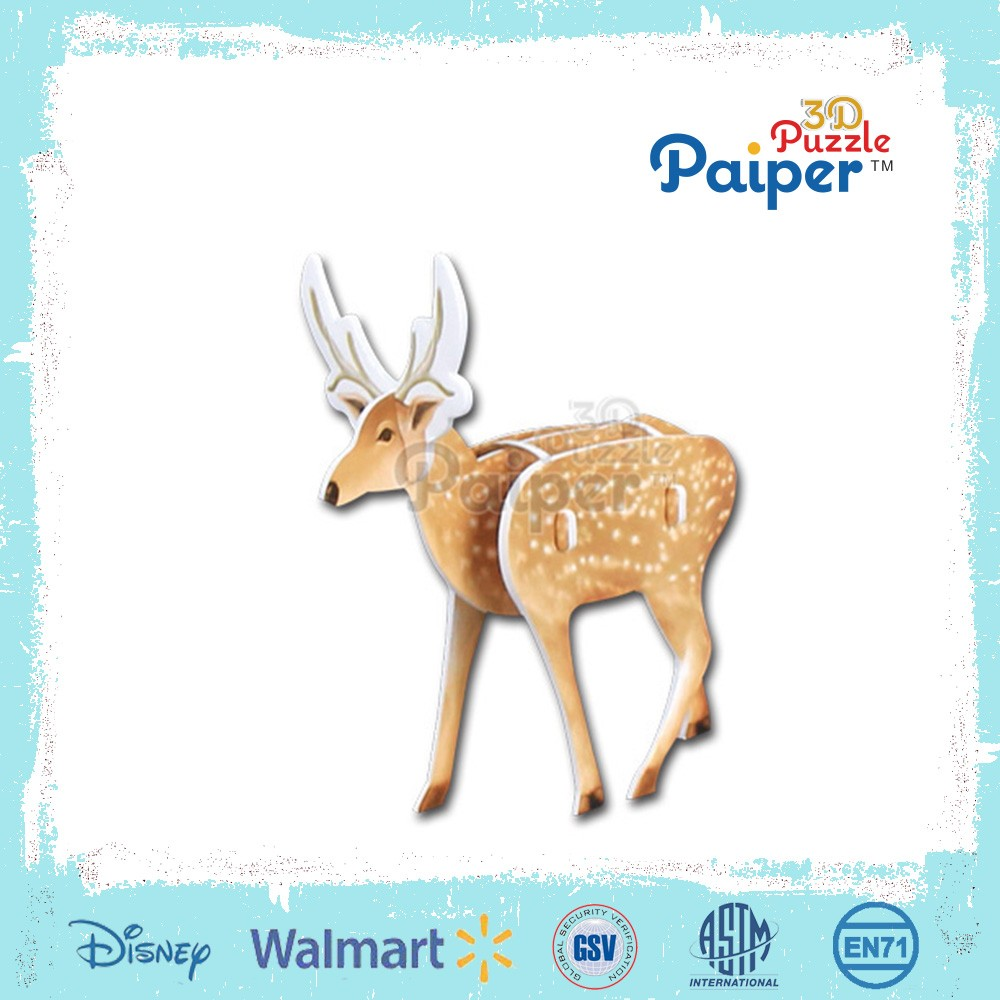 The hottest diy 3d mini puzzle animal toys with animal kingdom
