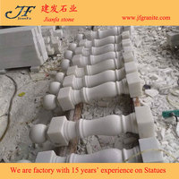 Outdoor White Marble Balusters Handrail