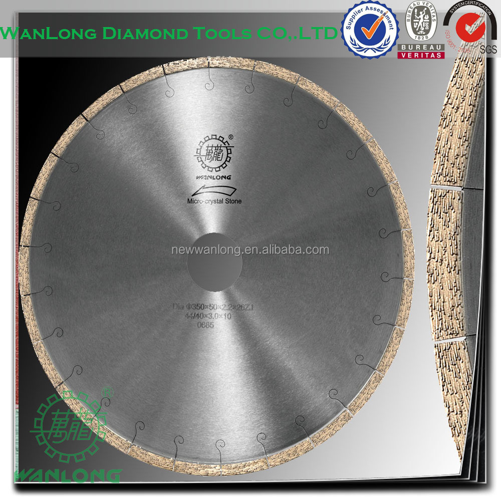 good continuity j slot diamond blade for cutting macrocrystal stone -stone cutting saw blade