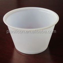 2 OZ biodegradable plastic souffle cup with lid
