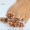 hot selling human brazilian remy hair nail hair extensions