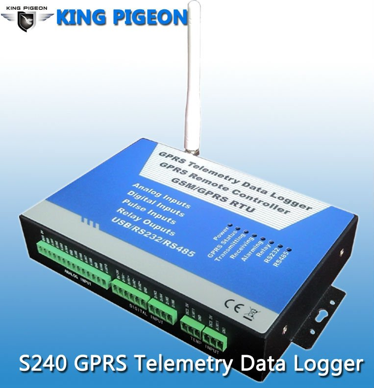 Sim Card Wireless GPRS RTU telemetry system,RS485 modbus,data logger temperature humidity,S240