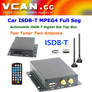 ISDB-T Digital TV receiver two tuner two antenna with PVR for Japan Brazil Chile