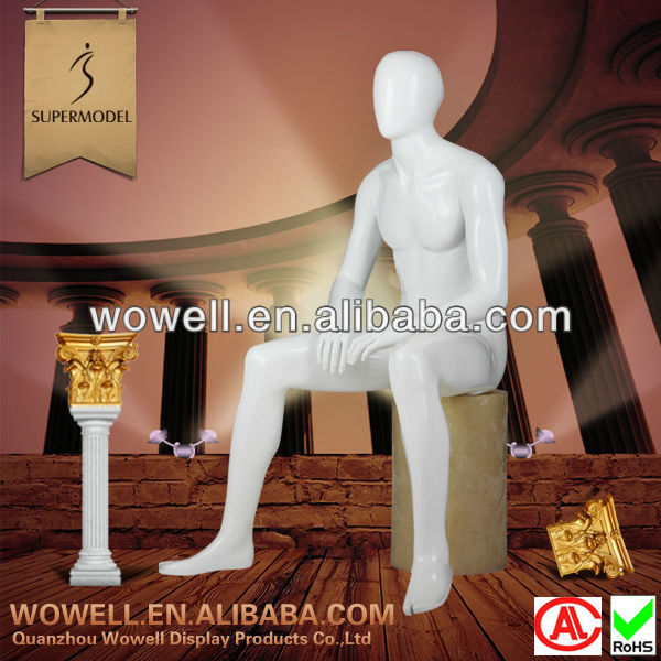 Special style high glossy sit male models dummy