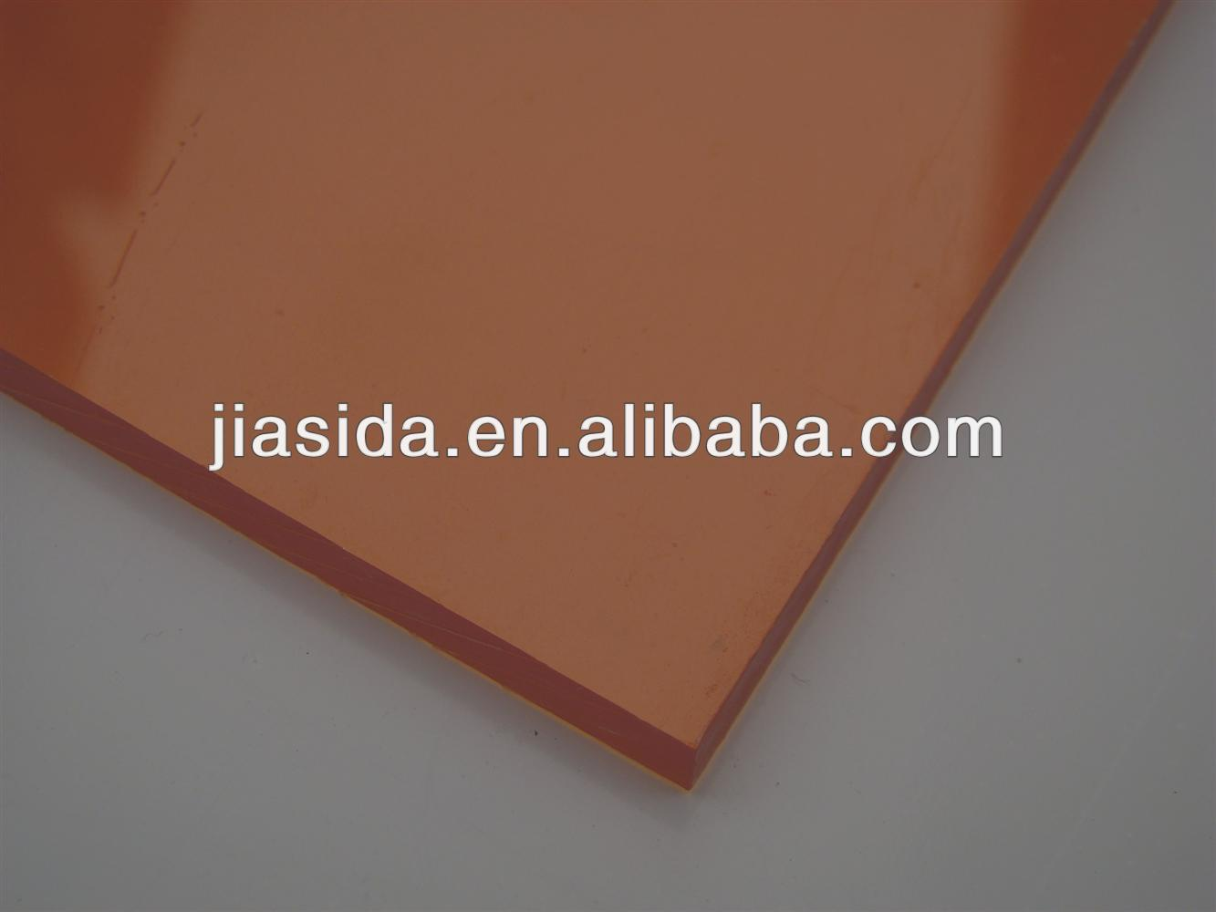 Orange polycarbonate solid sheet/Policarbonato/Polycarbonate sheet price