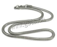 304 Stainless Steel Other Shape Lobster Clasp Snake Chain Bracelet 769666