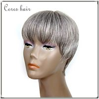 xbl credit card accept brazilian human hair wig grey hair lace wig for white women