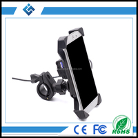 New Telescopic Type Motorcycle&Bicycle&Bike Handlebar Mounted Smart Mobile Phone Holder With USB Charger