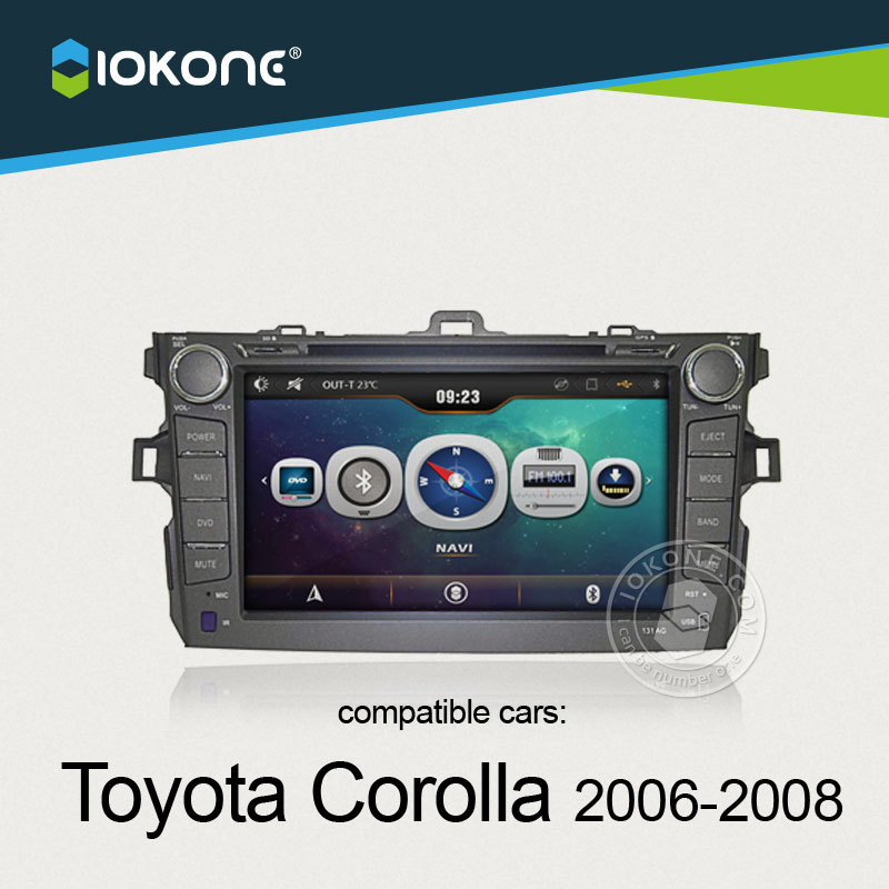 China supplier offer central multimedia DVD player GPS Navigation For Toyota Corolla 2006 2007 2008