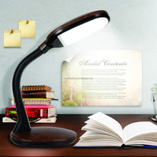 Flexible arm touch dimmer led table lamp