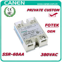 CANEN 60A 380VAC FOTEK Adjustable Industrial SSR Relay with OEM Service