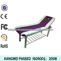 2014 factory wholesale pu leather facial table metal legs /durable massage table metal legs for sale (KM-8205)