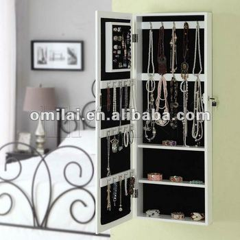Wall Mount Jewelry Armoire Cabinet Organizer