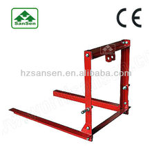Carry All Fork Attachment for tractor implements, 3 point linkage hitch pallet forks