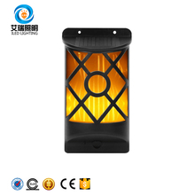 Amazon Aliexpress Product Solar Light Path Flame Light 66 Led Flickering Outdoor Waterproof Fence Garden Wall Lights