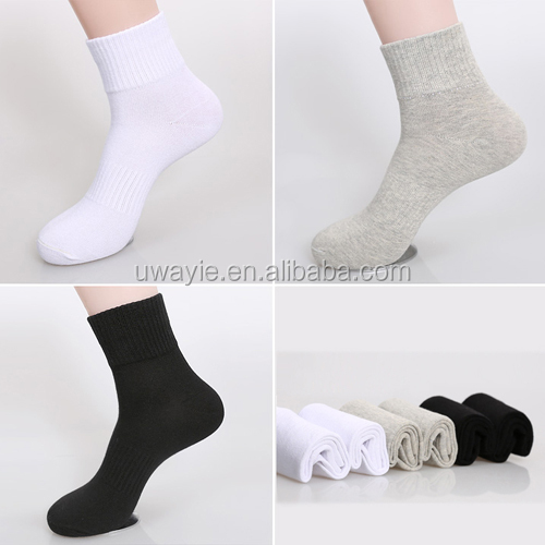 comfortable 100% cotton sports socks white socks crew socks terry sports ROSOX
