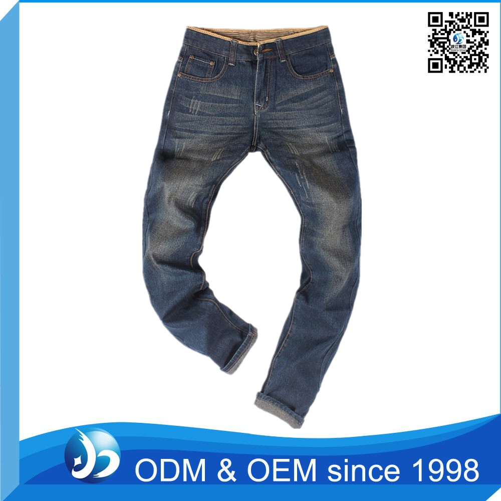 Custom Mens Straight Jeans With Stone Wash Cheap Jeans Wholesale China