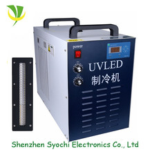 High efficiency 150x15mm emitting size water cooled uv curing led machine