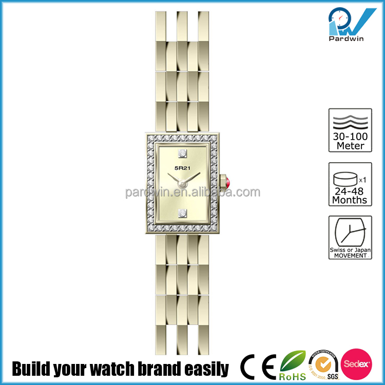 ladies fancy Miyota 5R21 movt Shower proof times square watches japan movt diamond quartz watch