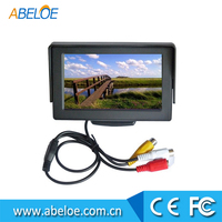 folding car monitor 4.3 Inch LCD TFT Car Foldable Rearview Monitor,4.3 inch flip down car monitor high definition