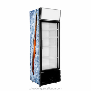 300L Commercial Upright glass door showcase / soft drink refrigerator