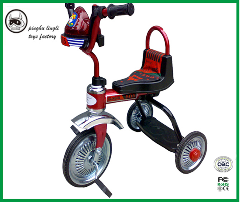 LL001 Pinghu Lingli new ddesign tricycle simple design with plastic and iron frame baby ride car