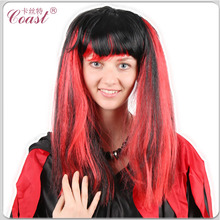 red and black synthetic ponytail styles hair factory