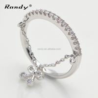 Latest Wedding Ring Designs,Silver Pendant Bowknot Chain Pendant Engagement Ring