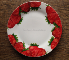 Plain Design Whole Set Fine Porcelain Round Shaped Dish