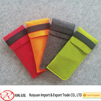 High quality hot sale durable offer free sample felt sunglasses bag for promotion