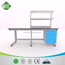 C-frame steel lab work bench with metal shelf,metal workbench,steel island bench with cabinets
