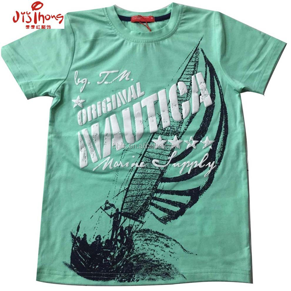 Kids summer wear t shirt printing cheap kids clothes T shirt printing china