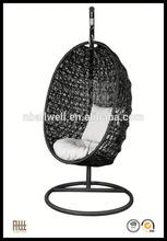 Wholesale factory supply patio rattan hanging swing chair outdoor gazebe swing
