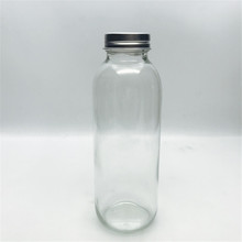 10oz 14oz 17oz 300ml <strong>flat</strong> cold brew coffee beverage glass bottle with aluminum cap