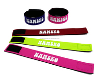 China Market Wholesale High quality customized neoprene wristband , adjustable neopren wristband , neoprene projector wristband