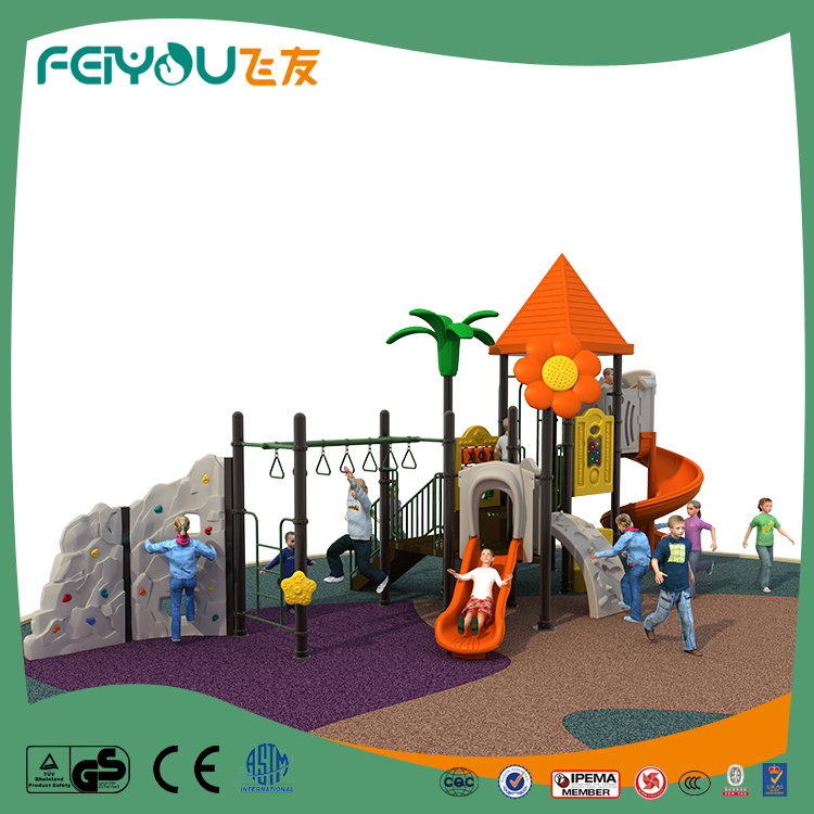 Newest and attractive jazz series outdoor playground play station with climbing wall from Feiyou Playground