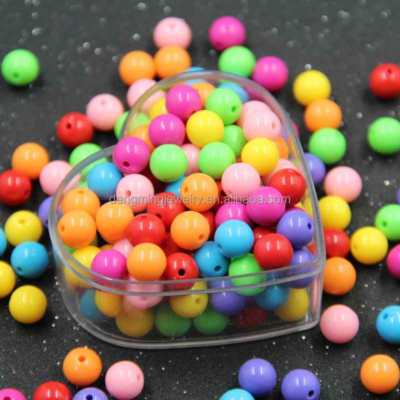 Kids Jewelry Chunky Solid Round Wholesale Acrylic Beads