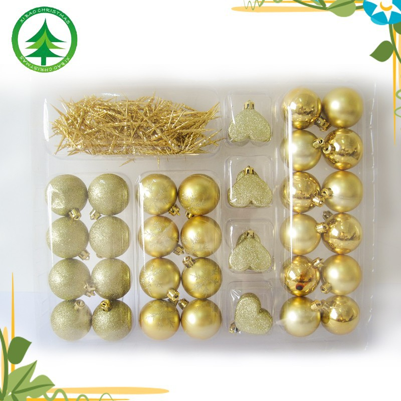 Best selling golden christmas gift ball , christmas indoor ornaments