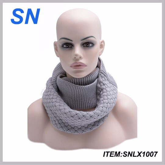 Hot selling China factory Custom Acrylic knitted infinity scarf