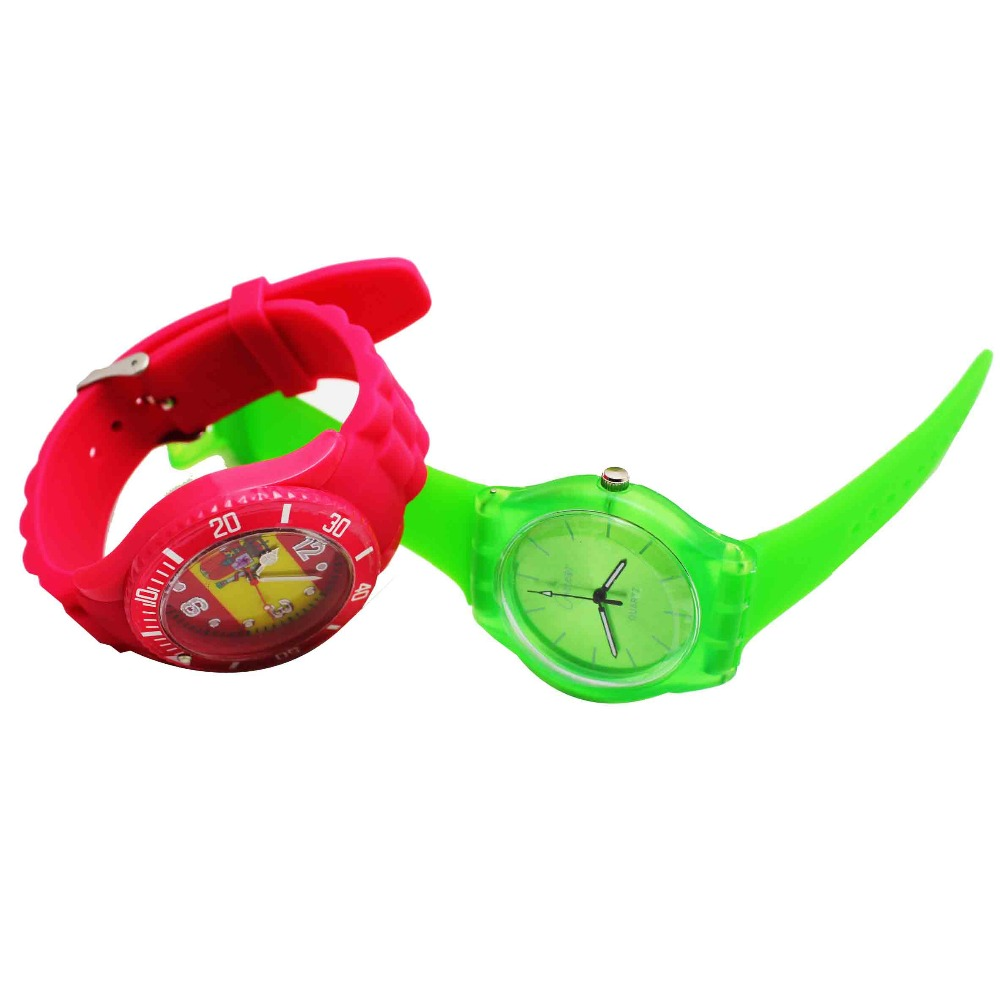 Waterproof silicone cool sport watch for teenagers