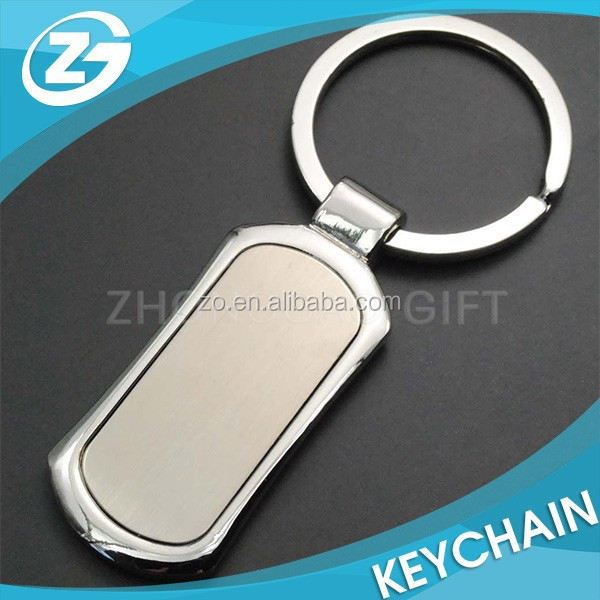 Best Selling Cheap Metal Blank Rectangle Keychain
