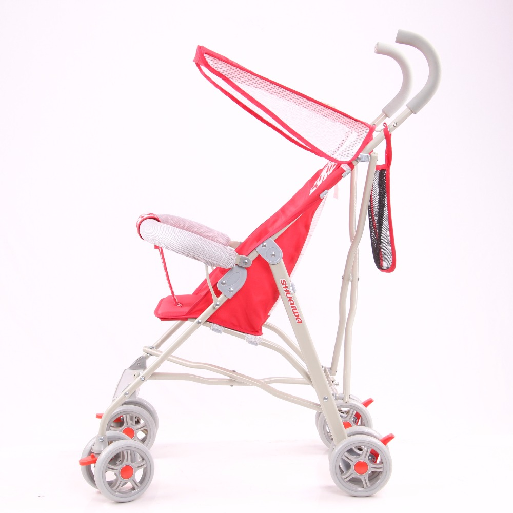 Pingxiang China simple light weight cheap baby stroller buggy with plastic spray steel fram