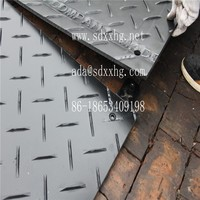 Plastic HDPE road cover for temporary road protect HDPE engineering mats