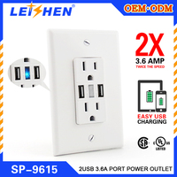 3000v Hign voltage tested safety guaranteed building renovation electrical USA usb wall socket